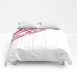 Wild cherry lines, ethnic  Red Comforters