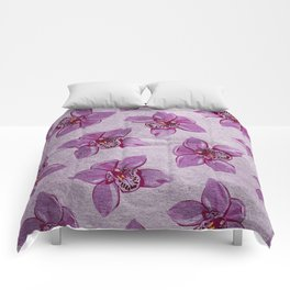 Orchids Pattern Comforters
