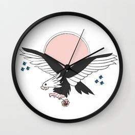 Eagle of the free and the brave Wall Clock
