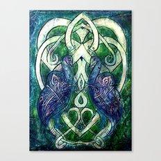 Celtic Peacocks Canvas Print
