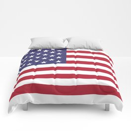 USA flag - Hi Def Authentic color & scale image Comforters