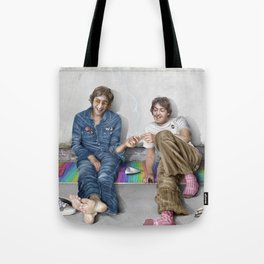 John and Paul get away from it all Tote Bag