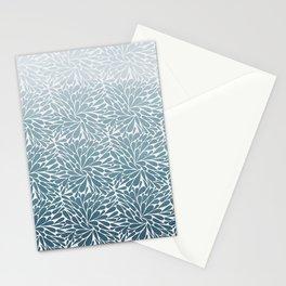 Ombré blue pattern Stationery Cards