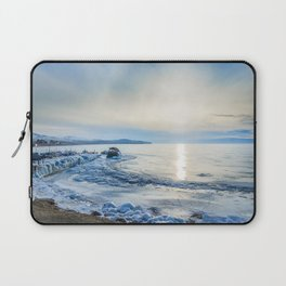 Frozen wharf and Halo Laptop Sleeve