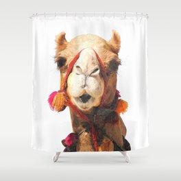 Camel Portrait Shower Curtain