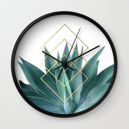 Agave geometrics Wall Clock