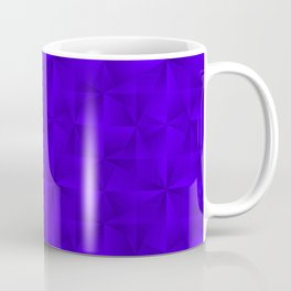 Stylish graphic pattern with iridescent triangles and violet squares in zigzag shapes. Coffee Mug