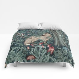 William Morris Forest Fox Tapestry Comforters