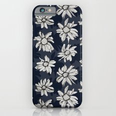 Black and Blue Flowers Slim Case iPhone 6s