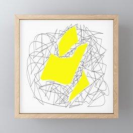 Collage yellow gar Framed Mini Art Print