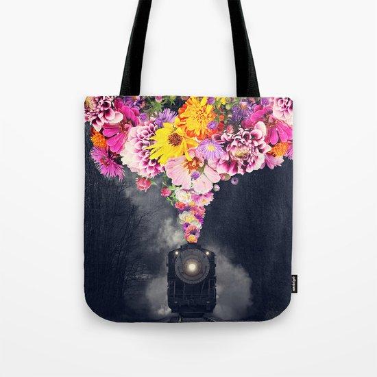 Flower train Tote Bag