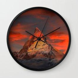 Matterhorn, Switzerland Wall Clock