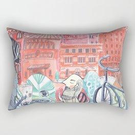 Marcel and Ernest Discuss Rectangular Pillow