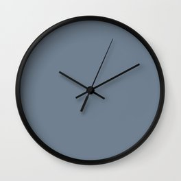 Slate Gray Solid Color Wall Clock