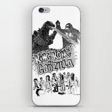 Godzilla .vs. King Kong iPhone & iPod Skin