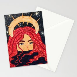 floating goddess Stationery Cards