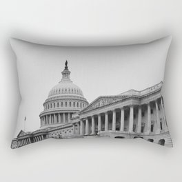 US Capitol Side Perpsective Rectangular Pillow