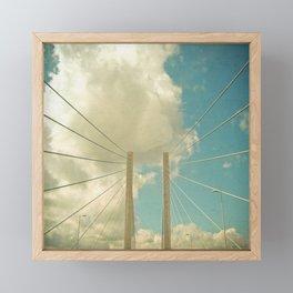 Over the Bridge Framed Mini Art Print