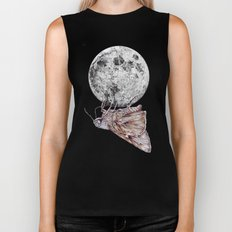 In which a moth is enticed by the light of the moon Biker Tank