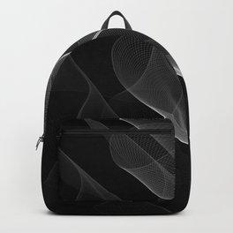 Black and White Flux #minimalist #homedecor #generativeart Backpack