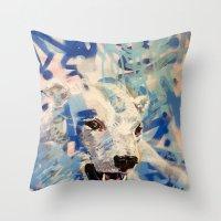 polar bear Throw Pillows featuring Polar Bear by Michael Hammond