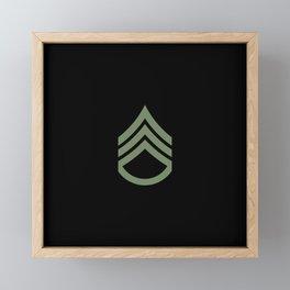 Staff Sergeant (Green) Framed Mini Art Print