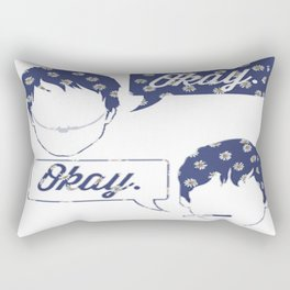 OKAY?OKAY THE FAULT IN OUR STARS TFIOS HAZEL AUGUSTUS CLOUDS SPEECH BUBBLES Rectangular Pillow