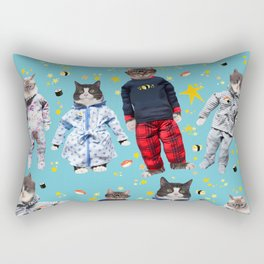 Cat Naps & Sushi Dreams by Crow Creek Coolture Rectangular Pillow