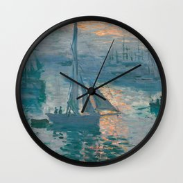 Sunrise Marine by Claude Monet, 1873 Wall Clock
