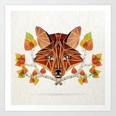 fox autumn Art Print