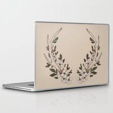 Floral Antler Laptop & iPad Skin