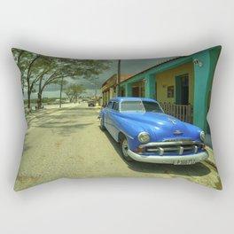 Vintage Plymouth at Cojimar Rectangular Pillow