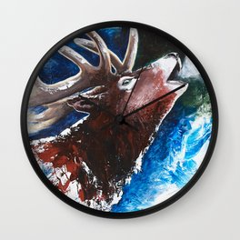 Deer - Valentine - animal by LiliFlore Wall Clock
