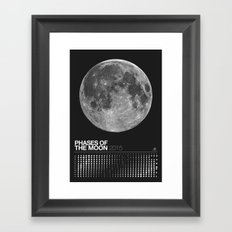 2015 Phases of the Moon Calendar (Full Moon) Framed Art Print