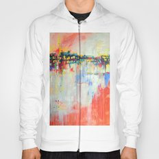 on the water,  expressive landscape, abstract Hoody