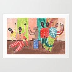 Tap Dance. Art Print