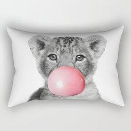 Bubble gum Lion Rectangular Pillow