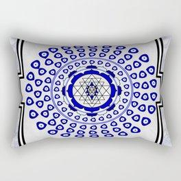 108 Evil Eye Sri Yantra Rectangular Pillow