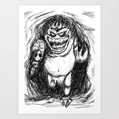King Gambler  Art Print