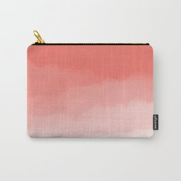 Living Coral Watercolor Ombre (Pantone Living Coral) Carry-All Pouch