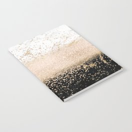 Elegant rose gold confetti marble design Notebook