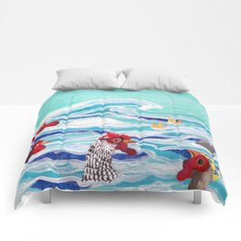 Chicken Dipping Comforters