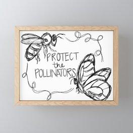 Protect the Pollinators Framed Mini Art Print