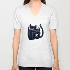 World Domination For Cats Unisex V-Neck