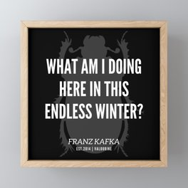 48 |  Franz Kafka Quotes | 190517 Framed Mini Art Print
