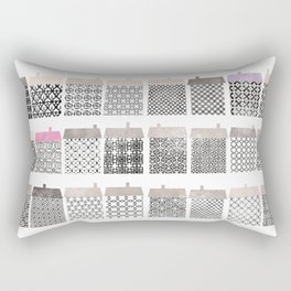 Casitas esgrafiadas. Houses. Casas Rectangular Pillow