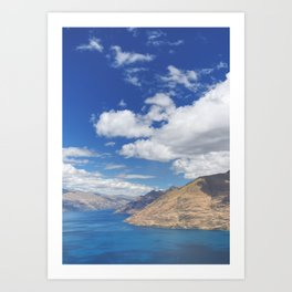 Skyline Queenstown 1 Art Print