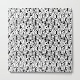 Vagina - Rama, White and Black Metal Print