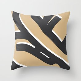 Bold sitting nude abstract pose Throw Pillow