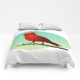 Low-poly Red Bird Comforters
